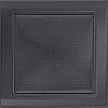 Вентиляционная решетка Kratki 22x22 см графитовая без жалюзи