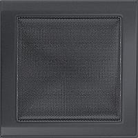 Вентиляционная решетка Kratki 22x22 см графитовая без жалюзи, фото 1