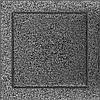 Вентиляционная решетка Kratki 22x22 см черное серебро без жалюзи