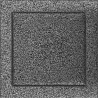 Вентиляционная решетка Kratki 22x22 см черное серебро без жалюзи, фото 1