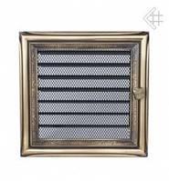 Вентиляционная решетка Kratki 17х17 см рустикальная c жалюзи, фото 1