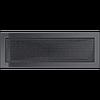 Вентиляционная решетка Kratki 17x49 см графитовая без жалюзи