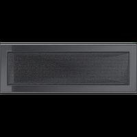 Вентиляционная решетка Kratki 17x49 см графитовая без жалюзи, фото 1