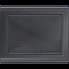 Вентиляційна решітка Kratki 22x30 см графітова без жалюзі