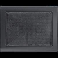 Вентиляційна решітка Kratki 22x30 см графітова без жалюзі, фото 1