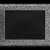Вентиляційна решітка Kratki 22x30 см чорне срібло без жалюзі