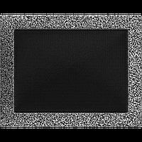 Вентиляційна решітка Kratki 22x30 см чорне срібло без жалюзі, фото 1