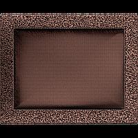Вентиляционная решетка Kratki 22x30 см медная без жалюзи, фото 1