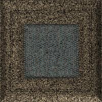 Вентиляционная решетка Kratki Oskar 11х11 см черное золото без жалюзи, фото 1