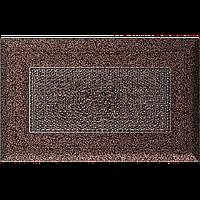 Вентиляційна решітка Kratki Oskar 11х17 см мідний без жалюзі, фото 1
