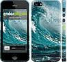 """Чехол на iPhone 5s Морская волна """"2939c-21"""""""