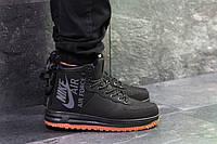 Мужские зимние кроссовки в стиле Nike Air Force, термоносок, черные 43 (27,7 см)