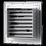 Решетка вентиляционная алюминий ОНГ1 140*140 Вентс белая, фото 2