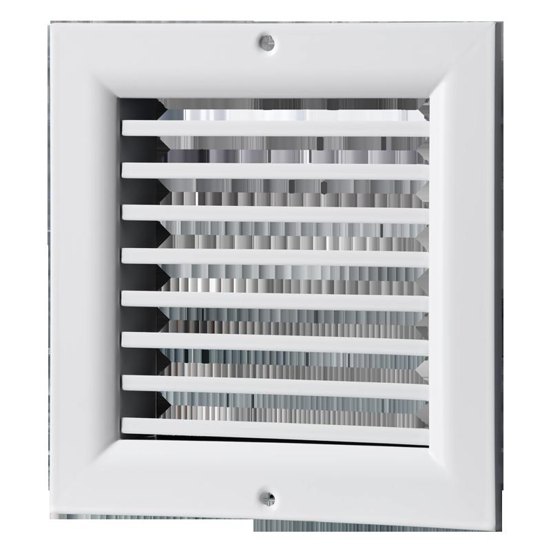 Решетка вентиляционная алюминий ОНГ1 150*150 Вентс белая