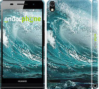 """Чехол на Huawei Ascend P6 Морская волна """"2939c-39"""""""