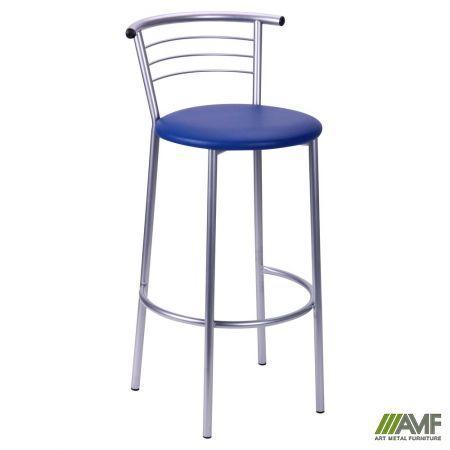 Барный стул  Маркос Хокер алюм Скаден темно-синий AMF