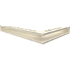 Вентиляционная решетка Kratki Люфт NL/90/K левая угловая бежевая