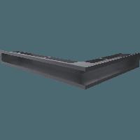 Вентиляционная решетка Люфт SF NL/90/G левая угловая графитовая, фото 1