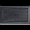 Вентиляционная решетка Kratki 22x37 см графитовая без жалюзи