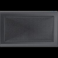 Вентиляційна решітка Kratki 22x37 см графітова без жалюзі, фото 1