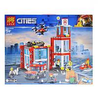 """Конструктор Lele 28049 (Аналог Lego City 60215) """"Пожарное депо""""537 деталей, фото 1"""