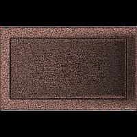 Вентиляционная решетка Kratki 22x37 см медный без жалюзи, фото 1