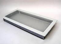 Вентиляційна решітка Kratki 22х45 см біла, фото 1