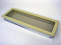 Вентиляционная решетка Kratki 22х45 см бежевая, фото 1