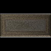 Вентиляційна решітка Kratki Oskar 11х24 см чорне золото без жалюзі, фото 1