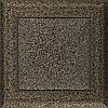 Вентиляционная решетка Kratki Oskar 17x17 см черное золото без жалюзи