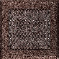 Вентиляционная решетка Kratki Oskar 17x17 см медная без жалюзи, фото 1
