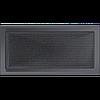 Вентиляционная решетка Kratki 22x45 см графитовая без жалюзи