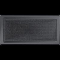Вентиляционная решетка Kratki 22x45 см графитовая без жалюзи, фото 1
