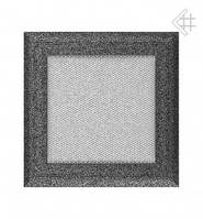 Вентиляционная решетка Kratki Oskar 17х17 см черно-серебренная, фото 1