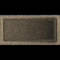 Вентиляційна решітка Kratki 22x45 см чорне золото без жалюзі, фото 1