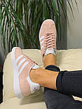 Кроссовки натуральная замша Adidas Gazelle Адидас Газель  (36,37,38,39,40), фото 4