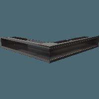 Вентиляционная решетка Kratki Люфт NS/90/C угловая черная, фото 1