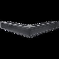 Вентиляционная решетка Люфт SF NS/90/G угловая графитовая, фото 1
