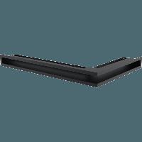 Вентиляционная решетка Kratki Люфт NL/6/40/G левая угловая графитовая, фото 1