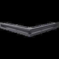 Вентиляционная решетка Kratki Люфт NS/60/G угловая графитовая, фото 1