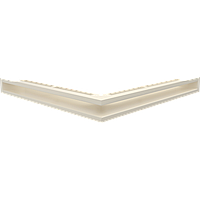 Вентиляційна решітка Люфт SF NS/60/K кутова бежева, фото 1