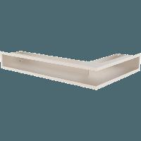 Вентиляционная решетка Kratki Люфт NL/9/40/K левая угловая бежевая, фото 1