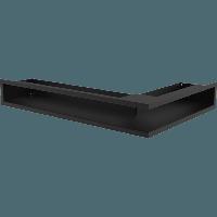 Вентиляционная решетка Kratki Люфт NL/9/40/C левая угловая черная, фото 1