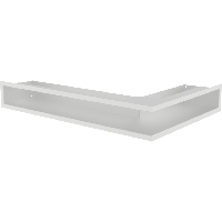 Вентиляционная решетка Люфт SF NL/9/40/B левая угловая белая, фото 1