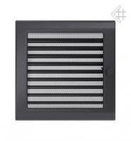 Вентиляционная решетка Kratki 22х22 см графитовая с жалюзи, фото 1