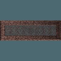 Вентиляционная решетка Kratki Oskar 11х32 см медная без жалюзи, фото 1