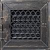Вентиляционная решетка Kratki RETRO 22x22 черная графитовая с дверкой