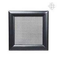 Вентиляційна решітка Kratki Oskar 17х49 см чорна, фото 1