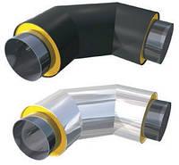 Колено теплоизолированное ППУ для стальной трубы 108/200 мм в ПЕ оболочке ( земля)