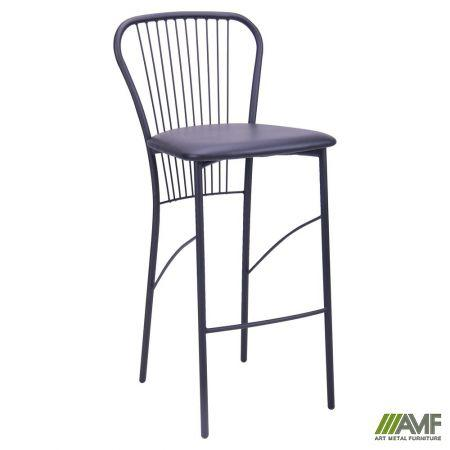 Барный стул Цезарь Хокер черный Кожзам черный  AMF